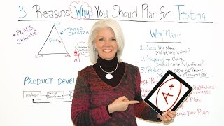3 Reasons to Plan for Testing