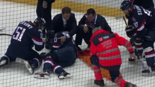 Nedorost gets seriously injured after Golyshev hit
