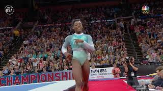 Simone Biles Showcases Her Technique In Her Floor Routine | Summer Champions Series