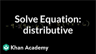 Solving Equations with the Distributive Property