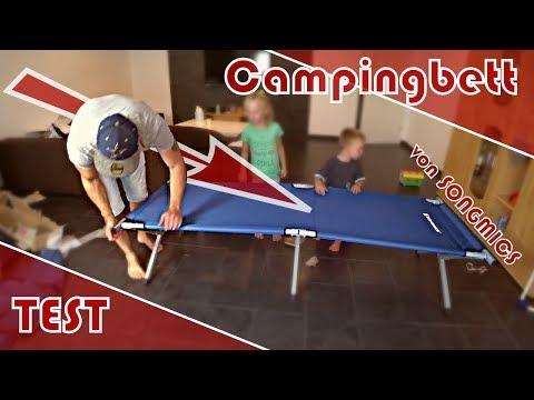 Campingbett │ Feldbett │ Test │ Unboxing │ Aufbau │ SONGMICS