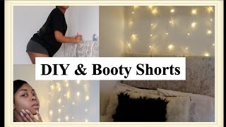 Vlog - Fairy Lights Wall + Booty Shorts | LISAAH MAPSIE