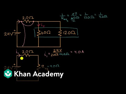 Current through resistor in parallel Worked example (video) Khan