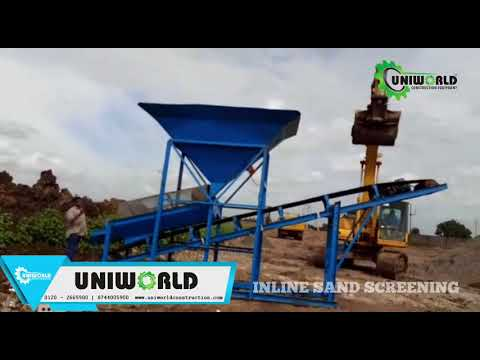 Inline Rotary Sand Screening Machine
