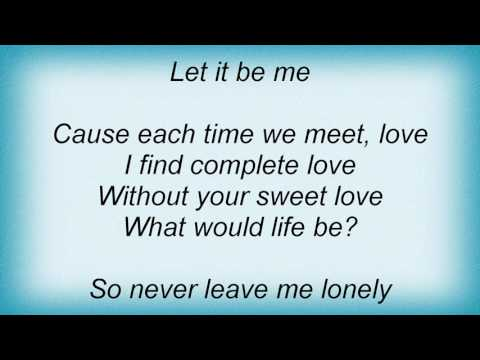 Rosie Thomas - Let It Be Me Lyrics