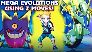 All Mega Evolutions using Z Moves in Pokémon Sun and Moon! All Mega & Primal Pokemon using Z Moves!