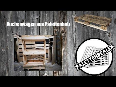 Küchenwagen aus Paletten - DIY #palettendealer