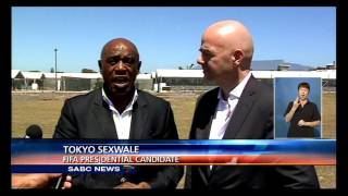 Tokyo Sexwale and Gianni Infantino paid a visit to Robben Island