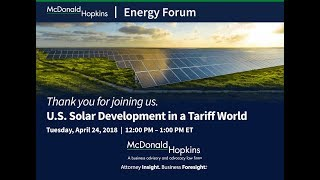 U.S. Solar Development in a Tariff World