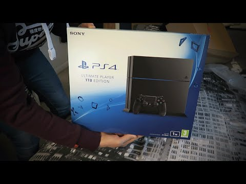 "BRAND NEW PS4 JET BLACK ""CUH-1216B"" UNBOXING! - Sony Playstation 4 ULTIMATE PLAYER 1TB EDITION"