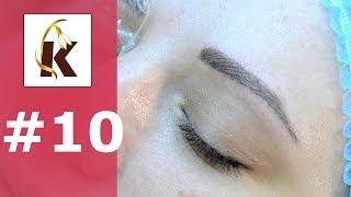 Смотреть онлайн Как делают волосковый татуаж бровей