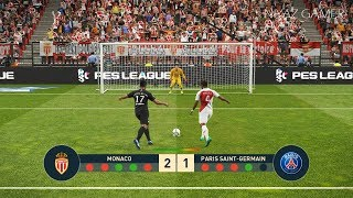 MONACO vs PSG | Penalty Shootout | Mbappe vs Monaco | PES 2019 Gameplay PC
