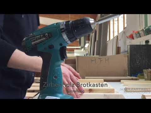 Bau eines Zirbenholz Brotkasten