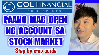 COL Financial: HOW TO OPEN AN  ACCOUNT