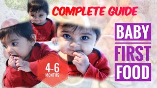 Baby First Food | 4-6 Months | Complete Guide | My experience | Baby Food Chart | How When Why | SM