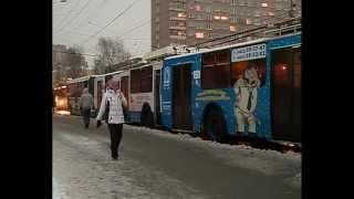 ДТП с участием 2 автобусов и 2 троллейбусов