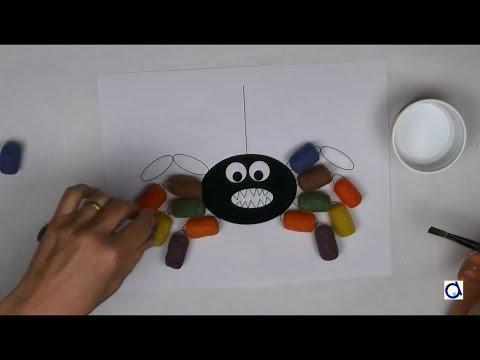 Araignée avec des nouilles magiques
