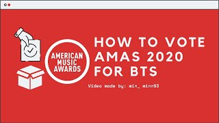 ~How To Vote AMAs 2020 for BTS-Cách vote AMAs 2020 cho BTS~min_minn93