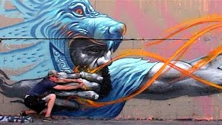 Badass Archer Street Art Mural - Los Angeles   KIPTOE   Kholo.pk