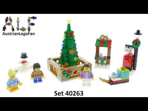 Vidéo LEGO Saisonnier 40263 : La place de Noël LEGO