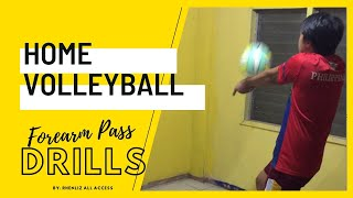 Volleyball Forearm Pass Drills @ Home