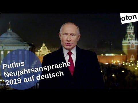 Putins Neujahrsansprache 2019 auf deutsch [Video]