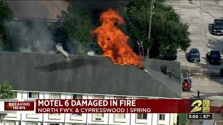 Motel 6 damaged in fire