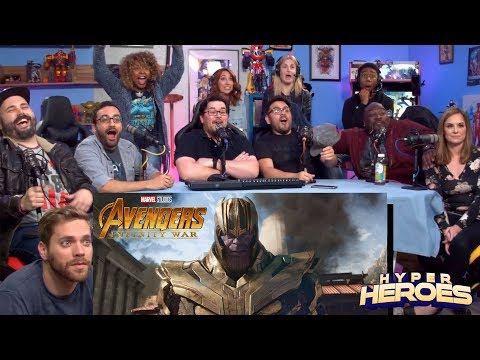 Marvel Studios' Avengers: Infinity War - Official Trailer Reaction (видео)
