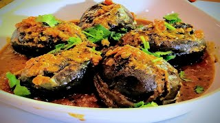 Stuffed Baby Eggplant | Indian Vegetarian Recipes | ShowMeTheCurry