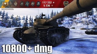 T57 Heavy Tank БОДРОЕ РУБИЛОВО 10800+ dmg 🌟🌟🌟 World of Tanks лучший бой т57 хеви