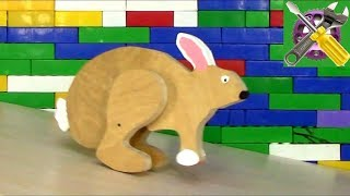 Игрушечная физика! Заяц из детства родителей своими руками!