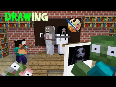 MONSTER SCHOOL - DRAWING KIDNAP CHALLENGE - Minecraft Animation
