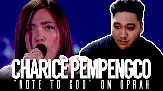 Charice - Note To God (Live on Oprah) REACTION!!!