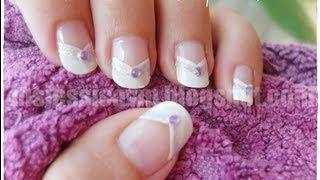 Diseño de uñas para novias que tienen uñas largas