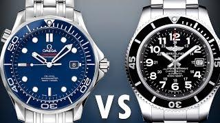 Omega Seamaster vs Breitling SuperOcean 2: Diver 300M 212.30.41.20.03.001 vs SuperOcean 2 A17365C9