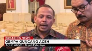 Pernyataan Bupati Pidie Jaya Aiyub Abbas Terkait Gempa Aceh