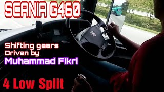 SCANIA G460. Shifting gear. Driven by Muhammad Fikri