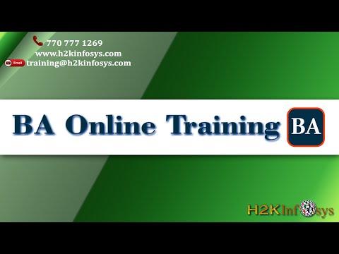 BA Online Training - YouTube