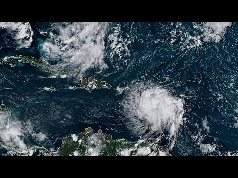 Tropical Storm Dorian threatened Puerto Rico with a direct hit on Wednesday, as forecasters said it made a last-minute shift in its path and could reach near-hurricane strength in its approach to the U.S. territory. (Aug. 28)
