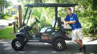 Lifted 4 Passenger Golf Cart- Street Legal From Moto Electric Vehicles
