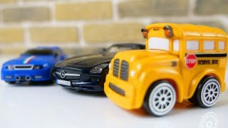 Мультик с машинками 🚌🚗 Бас, Спиди и ТАЙО собирают конструктор машинки Mercedes Benz и Mini Cooper