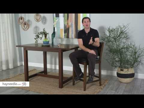 Belham Living Howard 26 in. Counter Stool - Walnut - Product Review Video