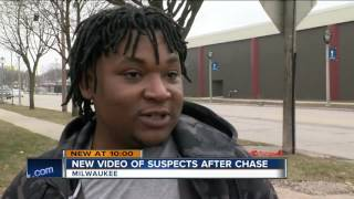 Video captures police chasing suspects in city worker murder