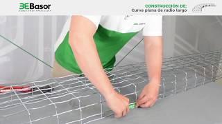 Creación de curvas planas de radio largo bandejas de hilo/rejilla