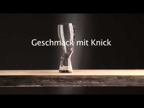 Weizenbierglas mit Knick