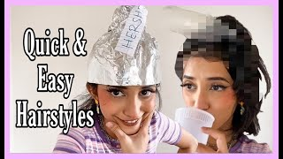 4 Quick & Easy Hairstyles || Themermaidscales