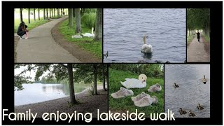 A family walk at Doncaster Lakeside