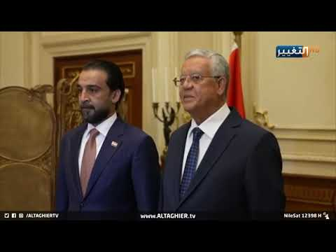 شاهد بالفيديو.. استقبال كبير ومهيب للرئيس محمد الحلبوسي في جمهورية مصر العربية