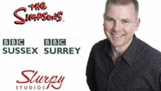 The Simpsons interview Slurpy on BBC Surrey and Sussex