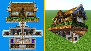 Minecraft How To Build A Modern Secret Base Tutorial Hidden House Minecraftvideos Tv